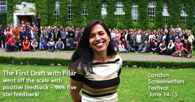 Pilar Alessandra at the London Screenwriting Festival